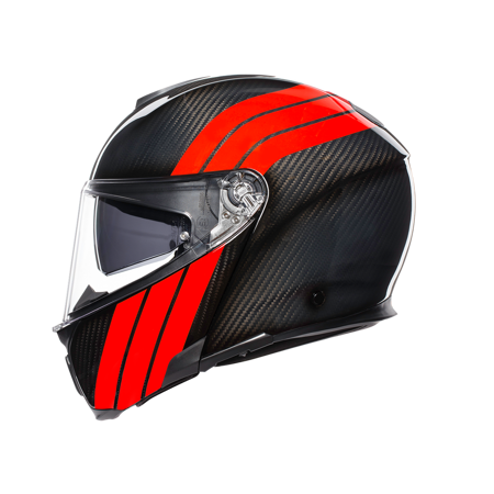 Kask AGV Sportmodular Stripes Carbon Red