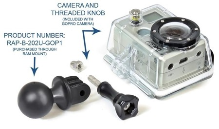 Ram Mount ADAPTER DO KAMER GOPRO RAP-B-202U-GOP1