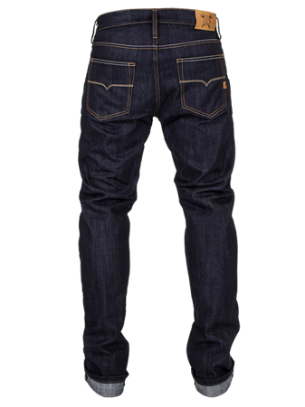 Spodnie John Doe Ironhead Mechanix Raw Denim granatowe